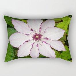 Pale Pink Clematis Rectangular Pillow