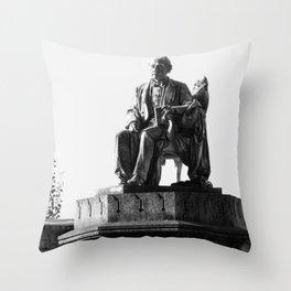 old man statue Throw Pillow