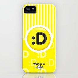 Yellow Writer's Mood iPhone Case