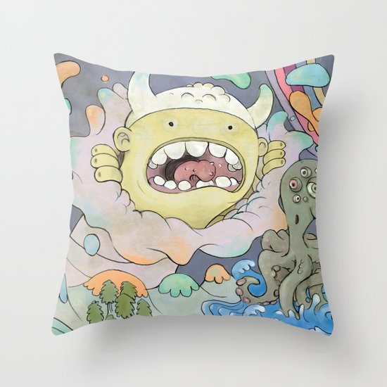 Bozo Throw Pillow