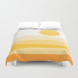 Abstract Landscape 09 Yellow Duvet Cover