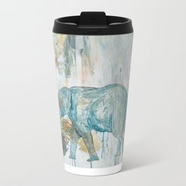 Baby and Mother elephant with Balloons Metal Travel Mug