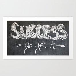 Success Quote (Inspirational) Art Print