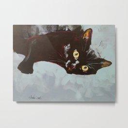 Black Cat Etude II Metal Print