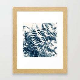 Royal Palm In Blue #2 Framed Art Print