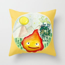 Howl's Moving Castle - Calcifer Throw Pillow
