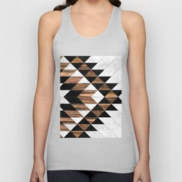 Urban Tribal Pattern No.9 - Aztec - Concrete and Wood Unisex Tanktop