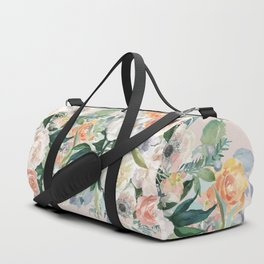 Pastel bouquet with roses Duffle Bag