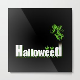HalloWeed Metal Print