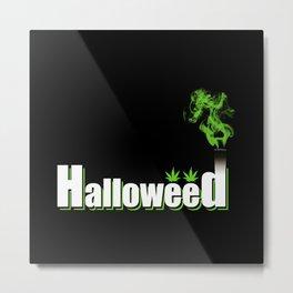 HalloWeed Metal Print