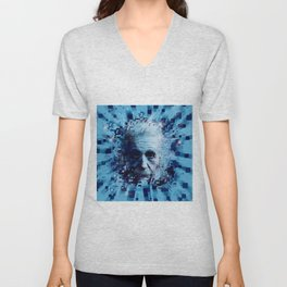 Albert Einstein 2 Unisex V-Neck