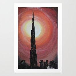 Burj Khalifa Art Print