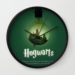 The school of Witchcraft and Wizardry Wall Clock