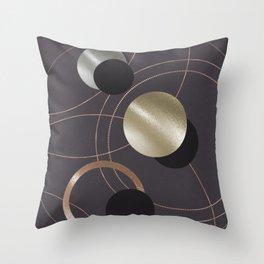 Golden Eclipses Throw Pillow