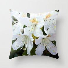 Beautiful white azalea flower photography. Throw Pillow