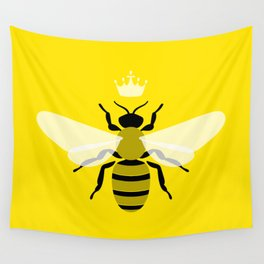 Queen Bee Yellow Wall Tapestry