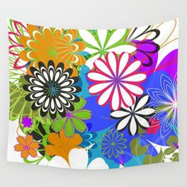 Art Flowers V17 Wall Tapestry