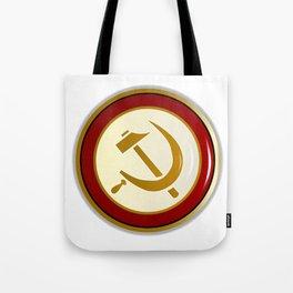 Russian Pin Badge Tote Bag