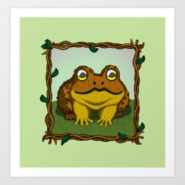 The Little Toad 2 Art Print