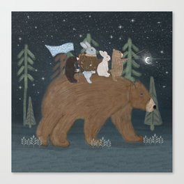 the moon bear Canvas Print