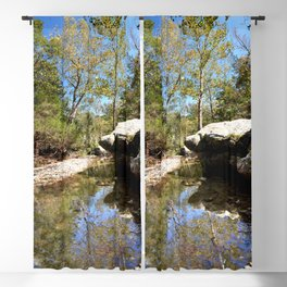 """""""Bathtub Rocks"""" and Weathered Old Barns, No. 9 Blackout Curtain"""