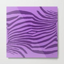 Animal Waves (Purple Mood) Metal Print