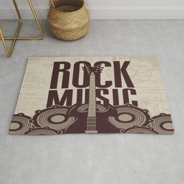 Rock Music Guitar Rug