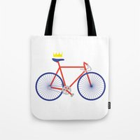 bike Tote Bags featuring Bike by Keep It Simple