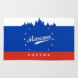 Moscow City, Russia, poster / Москва, Россия Rug