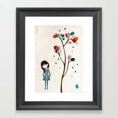Tree of petals Framed Art Print