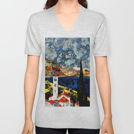 Abstract View Unisex V-Neck