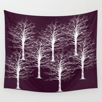 forrest Wall Tapestries featuring Ghost Forrest by Helle Gade