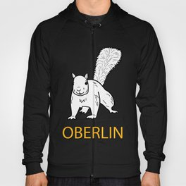 Cute Oberlin White Squirrel Illustration Hoody