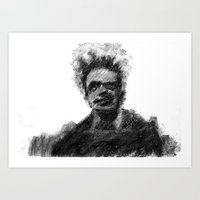 man with to many plans Art Print