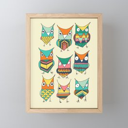 Give a hoot Framed Mini Art Print