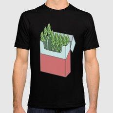 Asparagus Smokes MEDIUM Mens Fitted Tee Black