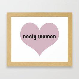 Nasty Woman Club Framed Art Print
