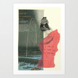 y ellos en su lado del planeta... Art Print