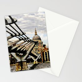 The Millennium Bridge, London UK. Stationery Cards