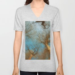 High up in the early  fresh Spring Air Unisex V-Neck