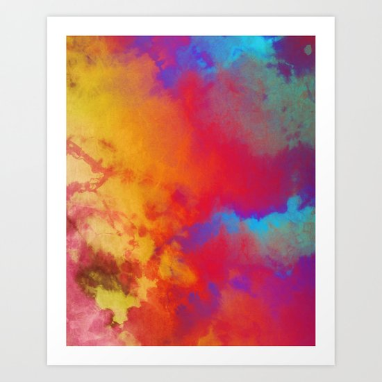 Dye to Live #society6 #decor #buyart Art Print