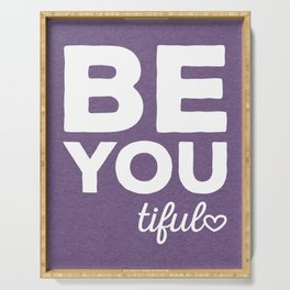 Be-You-Tiful Positive Quote Serving Tray