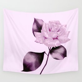 simple satiny pink rose Wall Tapestry