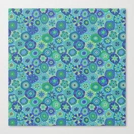 Millefiori-Oceania Colors Canvas Print