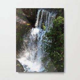 Waterfall sgwd clun gwyn  Metal Print