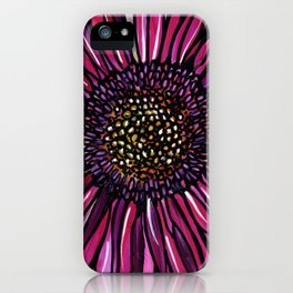 Magenta Gerbera Daisy iPhone Case