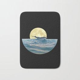 Whale under the moon Minimalist Bath Mat