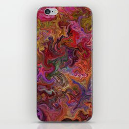 Psychedelic soup iPhone Skin