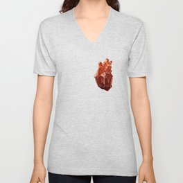 Crystal Heart Unisex V-Neck