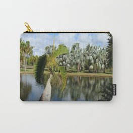 Palm Reflection - Tropical Garden Pond Carry-All Pouch